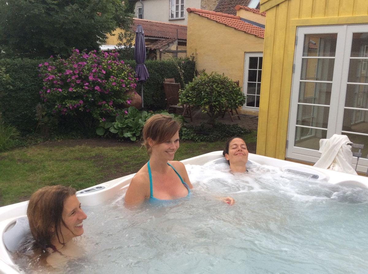 Polterabend med spa, sauna og yoga hos Indre ro Odense