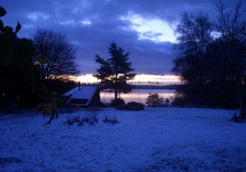 Vintermorgen på Nytårs yogaweekend og retreat med Indre ro