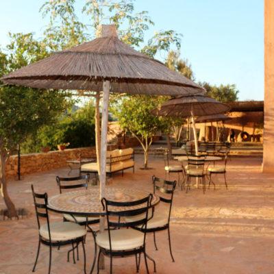 Marokko yogaretreat Indre ro, Atlas Kasbah Terrasse